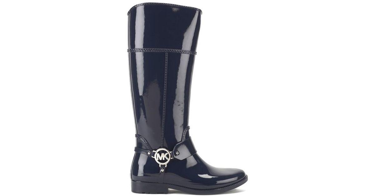 cbac9dbefc41 MICHAEL Michael Kors Women s Fulton Harness Tall Rubber Rain Boots in Blue  - Lyst