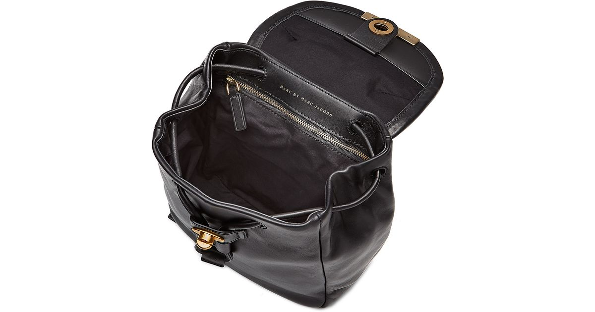 14b66c6fe215 Lyst - Marc By Marc Jacobs Luna Mini Leather Backpack - Black in Black