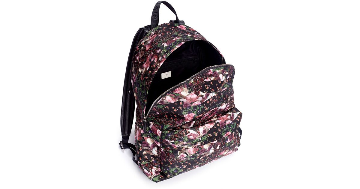 0d959679300 Givenchy Multi Floral Print Backpack in Pink for Men - Lyst