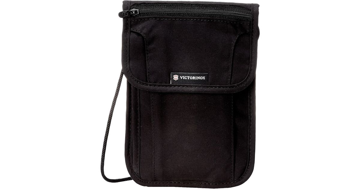 237f0ac3faf6 Lyst - Victorinox Deluxe Concealed Security Pouch W Rfid Protection in Black