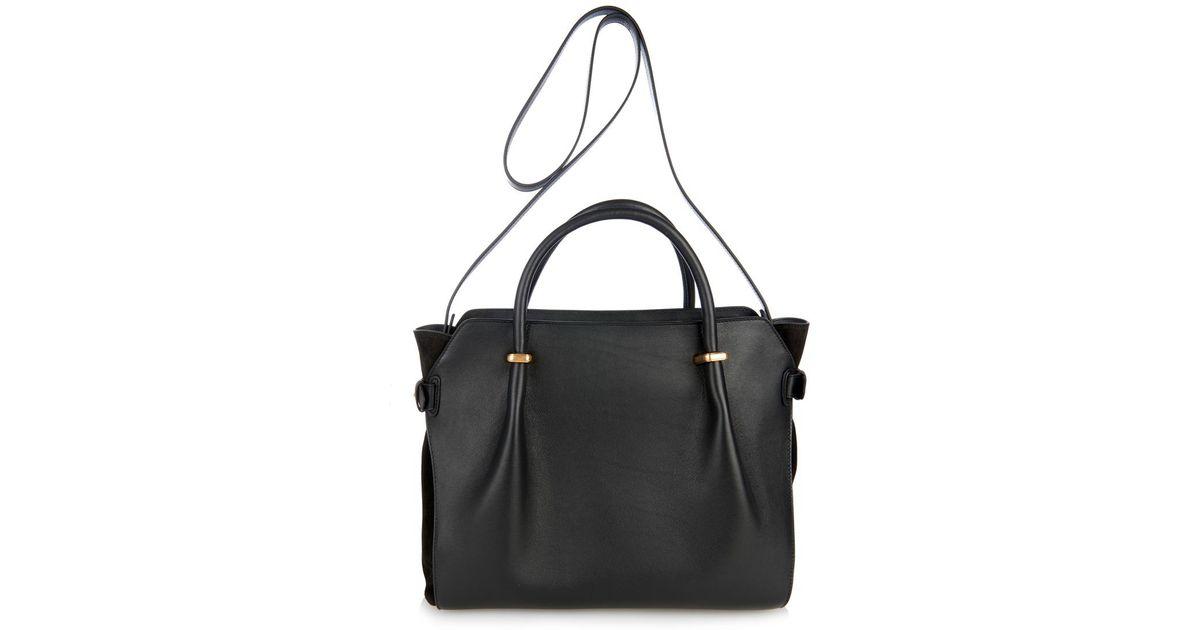 88142ac60f Lyst - Nina Ricci Le Marché Medium Leather Tote in Black