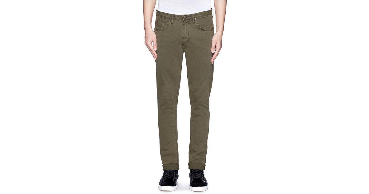 22ac5b08342 Scotch & Soda 'dylan' Super Slim Fit Jeans in Green for Men - Lyst