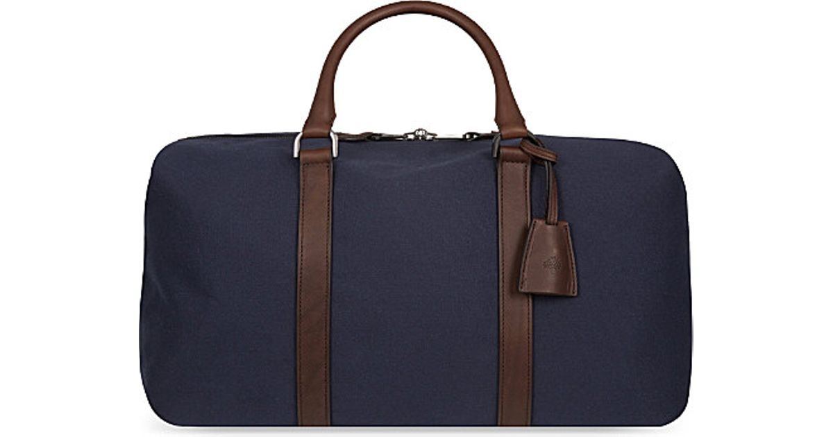 1df71cfdd1 Mulberry Small Canvas Clipper Holdall in Blue for Men - Lyst