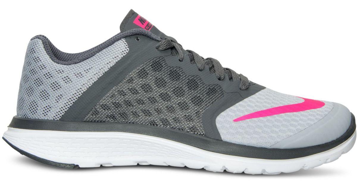 hot sale online 0dee6 cb941 Lyst - Nike Women s Fs Lite Run 3 Running Sneakers From Finish Line in Gray