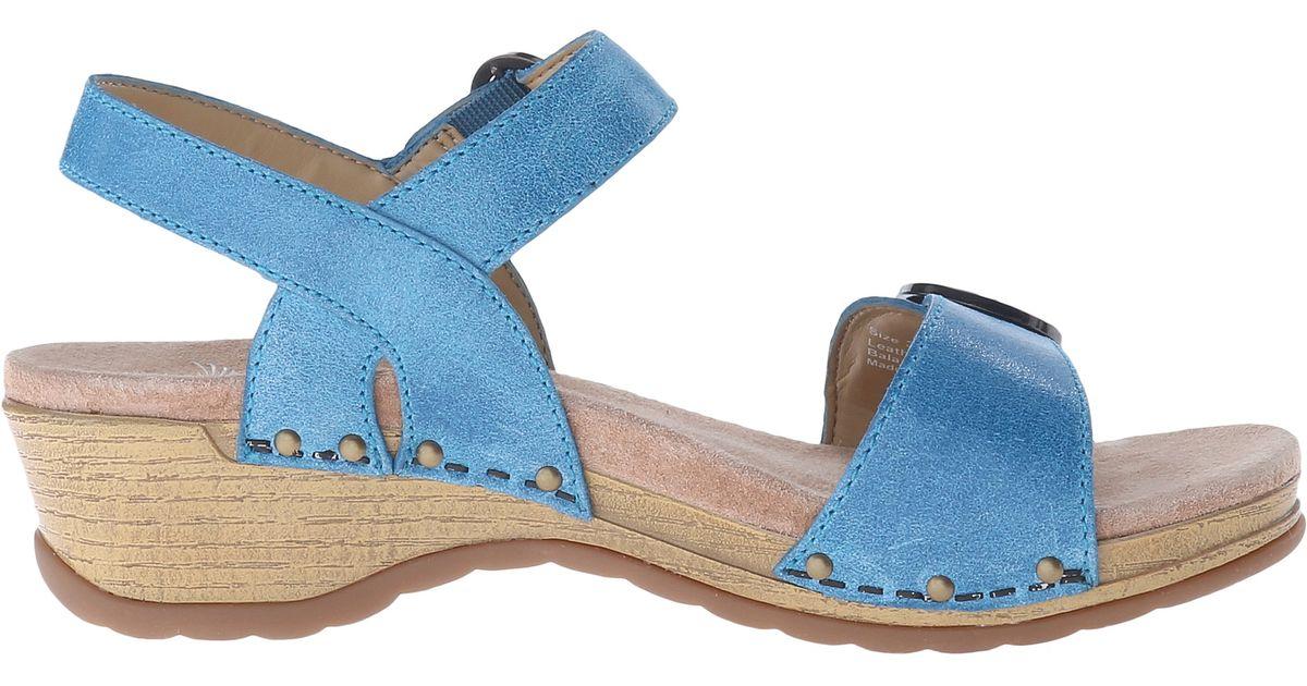 Dansko Mabel In Blue Blue Washed Leather Lyst