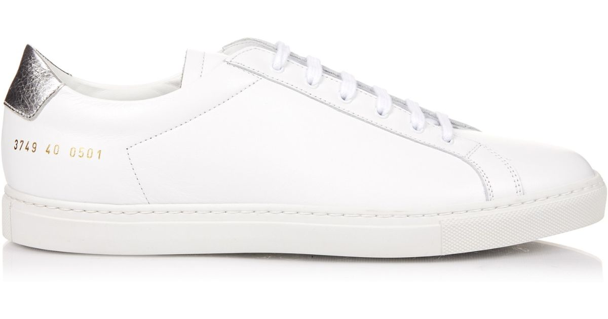 for sale sale online visit new online Common Projects White Silver Retro Achilles Leather Sneakers clearance latest finishline cheap online footlocker pictures for sale a35kuBs