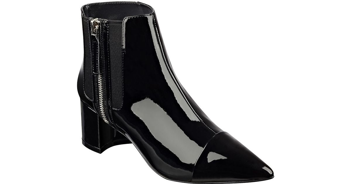 nine west patent leather booties