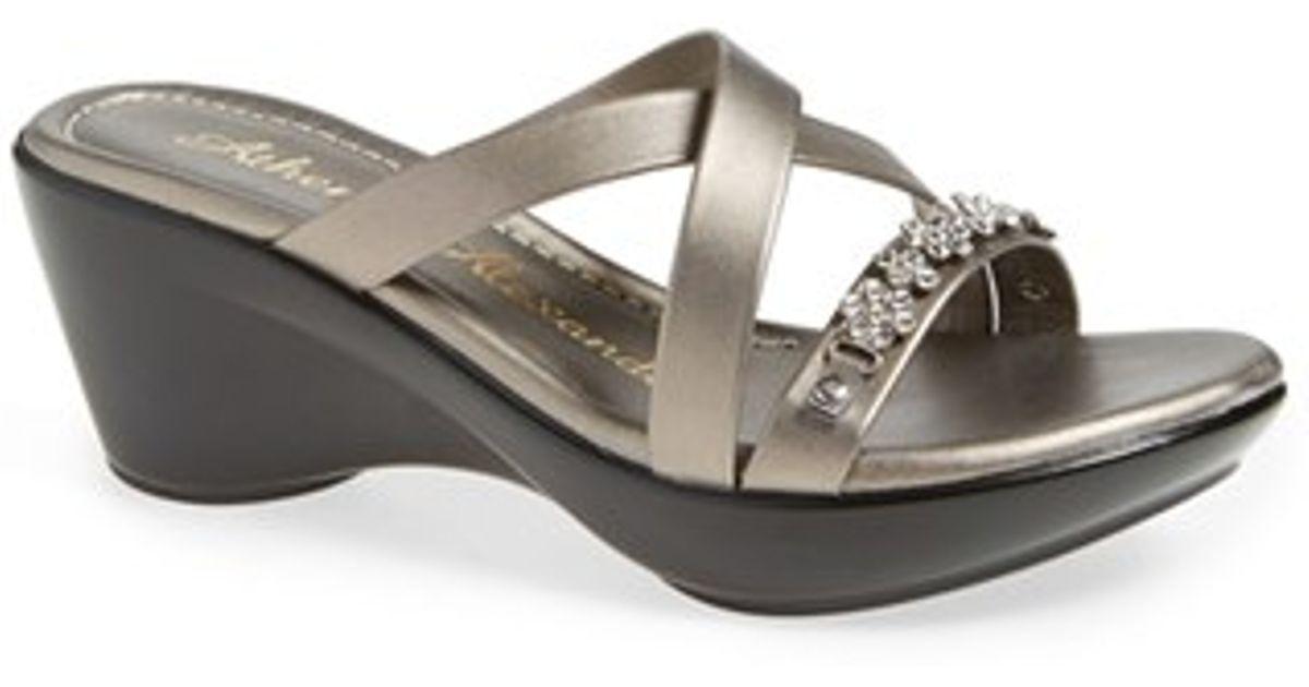 Athena Alexander Tangie Crystal Embellished Wedge Sandal