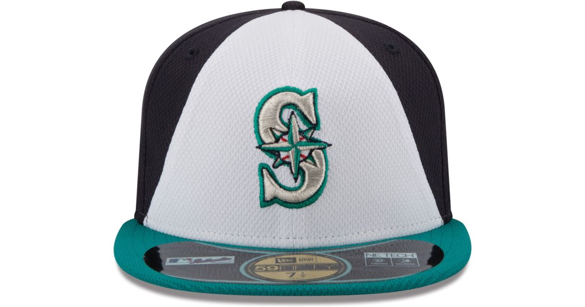 outlet store ffde6 bd756 ... france lyst ktz seattle mariners all star game patch 59fifty cap in  blue for men 23246