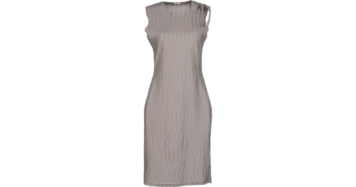 In Gray Short Dress Lyst Malo EYCSPqxE