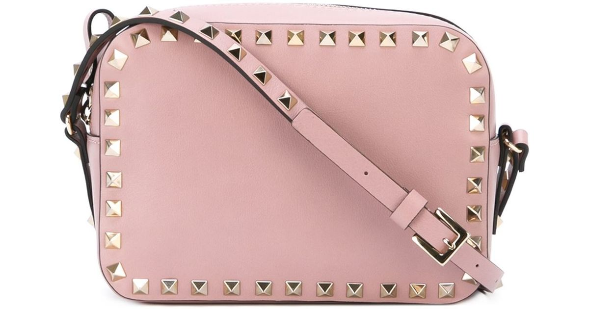 Lyst - Valentino  rockstud  Crossbody Bag in Pink 9fb79c8d1a0a