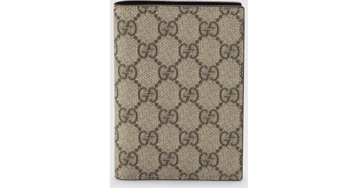 9d2734aa93f Lyst - Gucci Gg Supreme Canvas Passport Case in Black