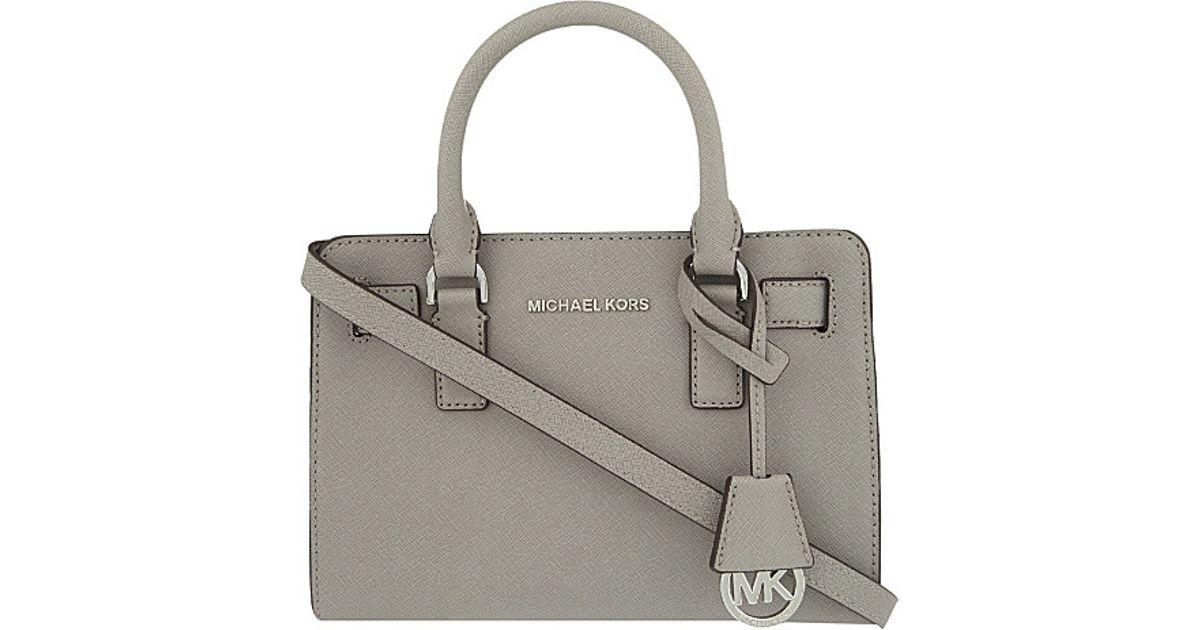 4d40ffd153b45 ... usa michael michael kors dillon leather satchel in gray lyst 5f725 a583c