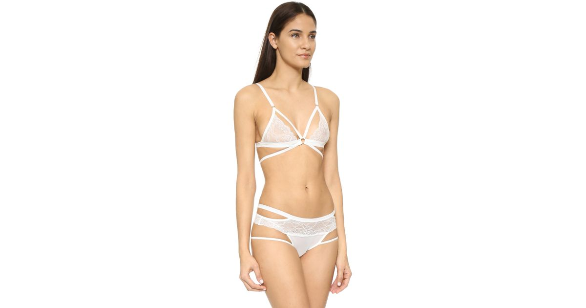 65c0fe6766db0 Lyst - Honeydew Intimates Lucy Lace Bralette in White