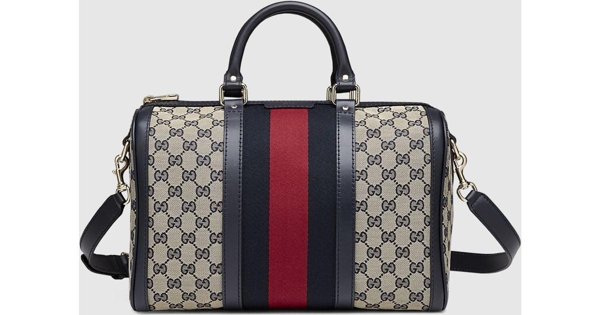 4ca537da85 Lyst - Gucci Vintage Web Original Gg Canvas Boston Bag in Brown