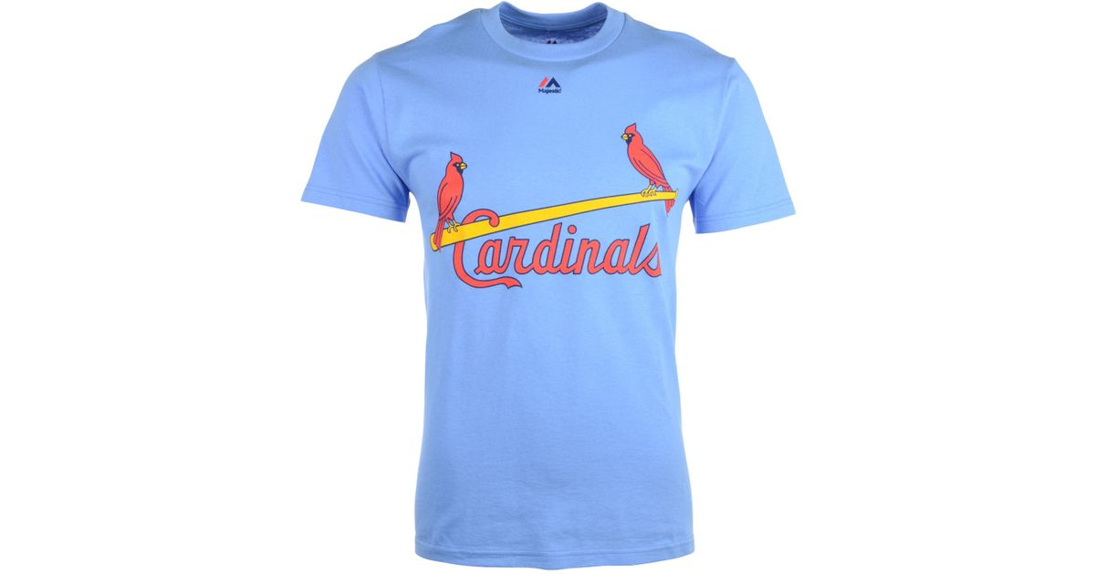new styles e30d8 65022 Majestic Blue Men's Willie Mcgee St. Louis Cardinals Player T-shirt for men