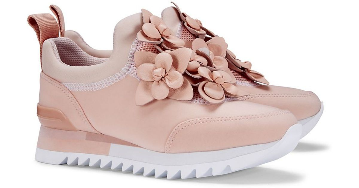 682238dd91d1 Lyst - Tory Burch Blossom Sneaker in Pink