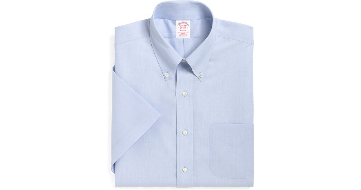 Brooks brothers non iron madison fit short sleeve dress for Brooks brothers non iron shirts review