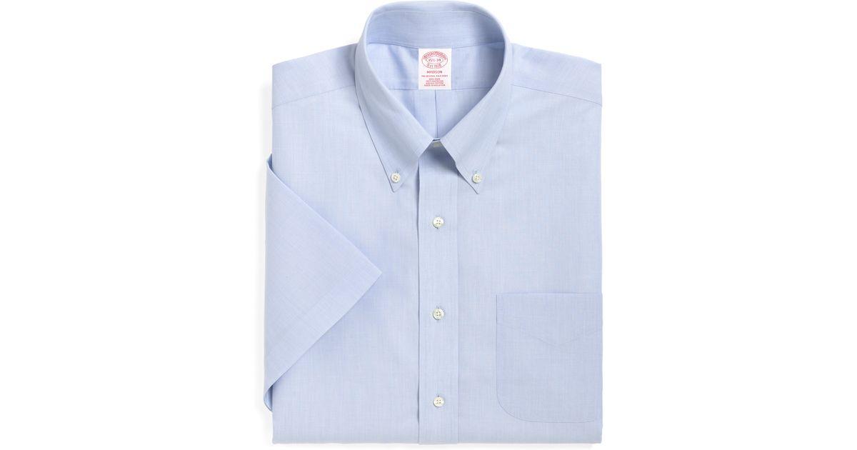 Brooks Brothers Non Iron Madison Fit Short Sleeve Dress