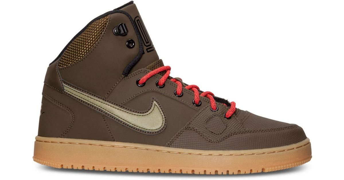 free shipping 91bbb df1eb Nike Men s Son Of Force Mid Winter Casual Sneakers From Finish Line in  Green for Men - Lyst