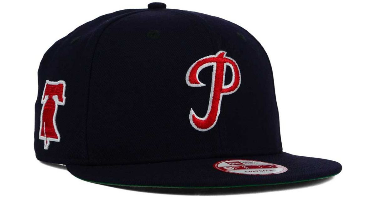 e90737ab132 Lyst - KTZ Philadelphia Phillies 2 Tone Link Cooperstown 9fifty Snapback Cap  in Blue for Men