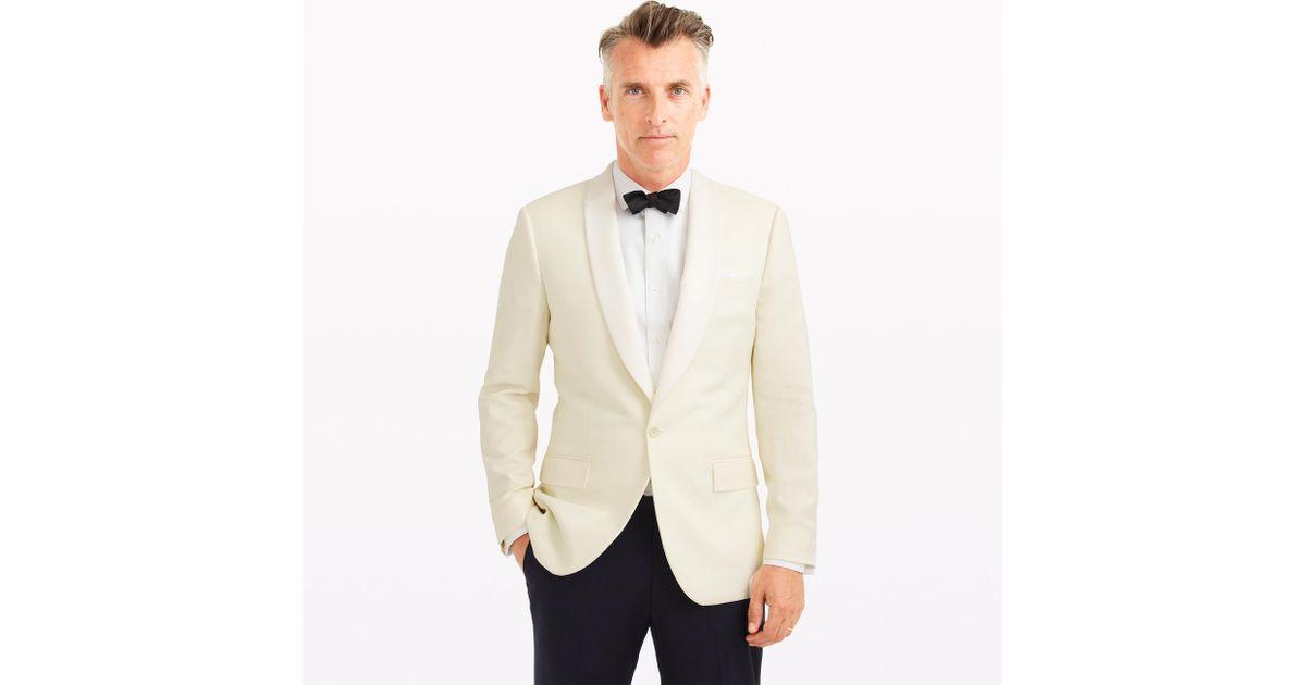 J.crew Ludlow Dinner Jacket In Italian Wool in White for ...