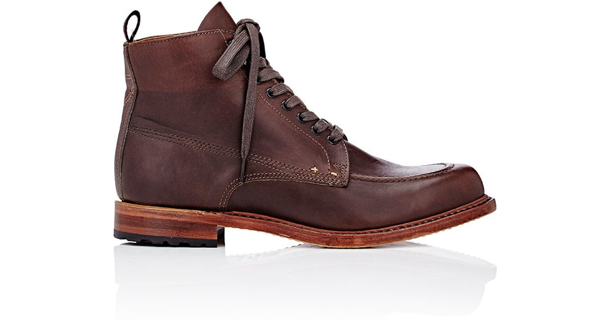 rag bone rowan lace up boots in brown for lyst