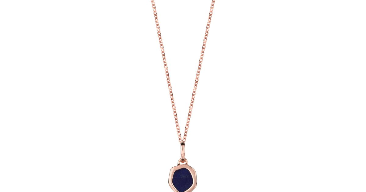 lyst eye product pendant vinader monica atlantis in amazonite blue beige jewelry normal