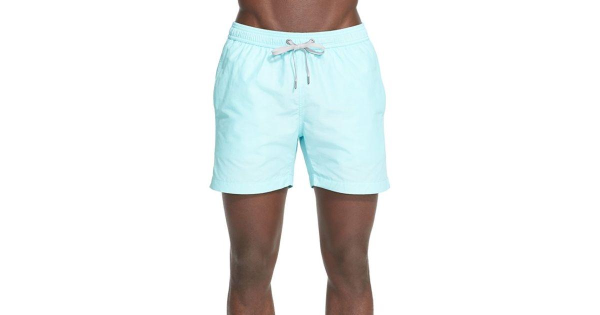 8b725201c1 Lyst - Onia 'charles 5' Swim Trunks in Blue for Men