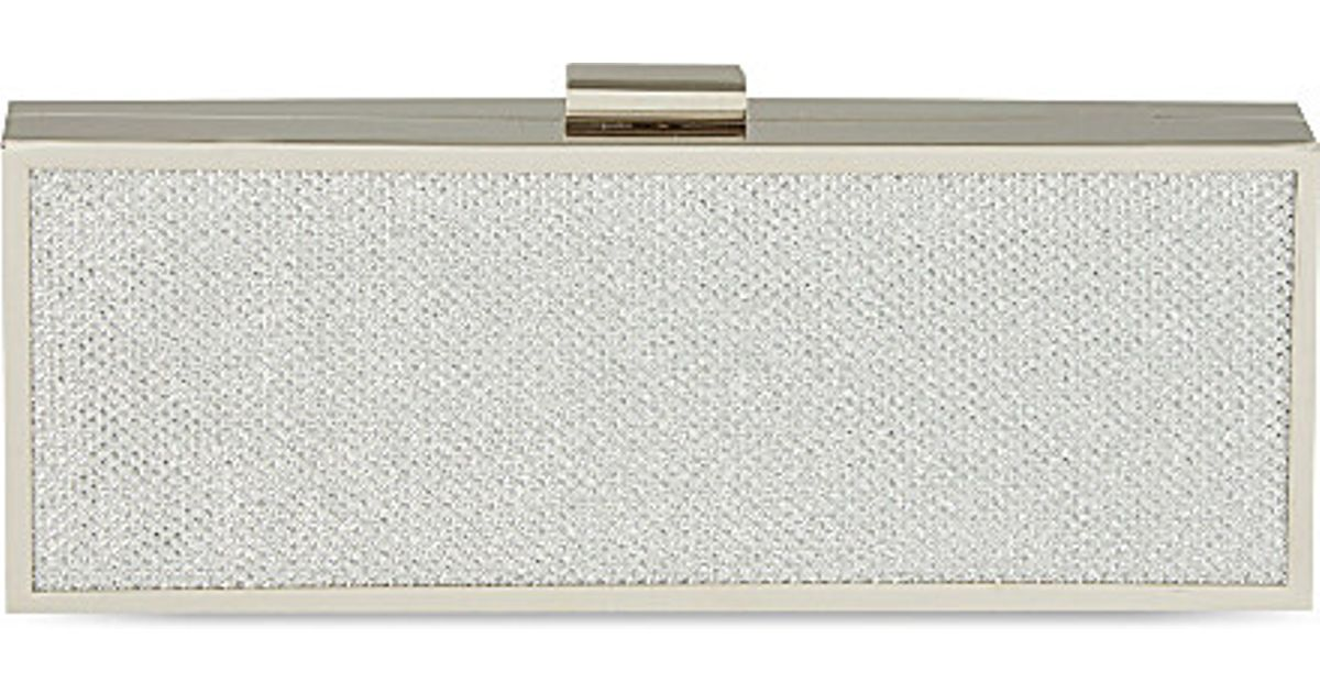 Carvela Kurt Geiger Gosh Box Clutch Bag in Metallic - Lyst 7a3b5b7f1d364