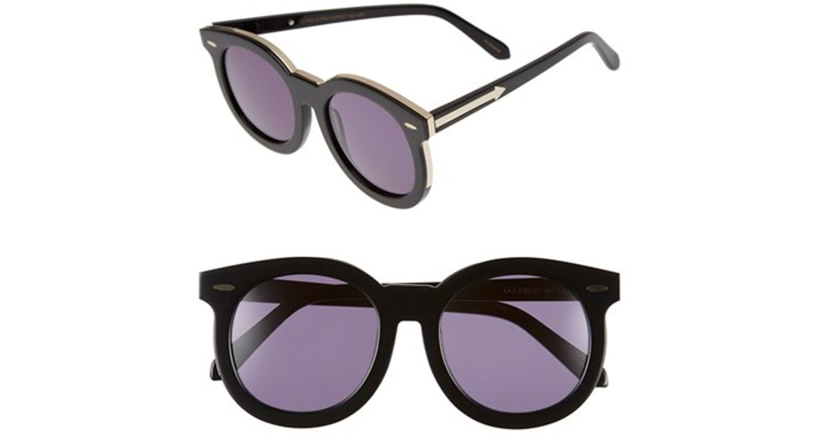 5f7cd16e1f0 Lyst - Karen Walker  super Duper Thistle  52mm Retro Sunglasses - Crazy  Tortoise  Clear  Gold in Metallic