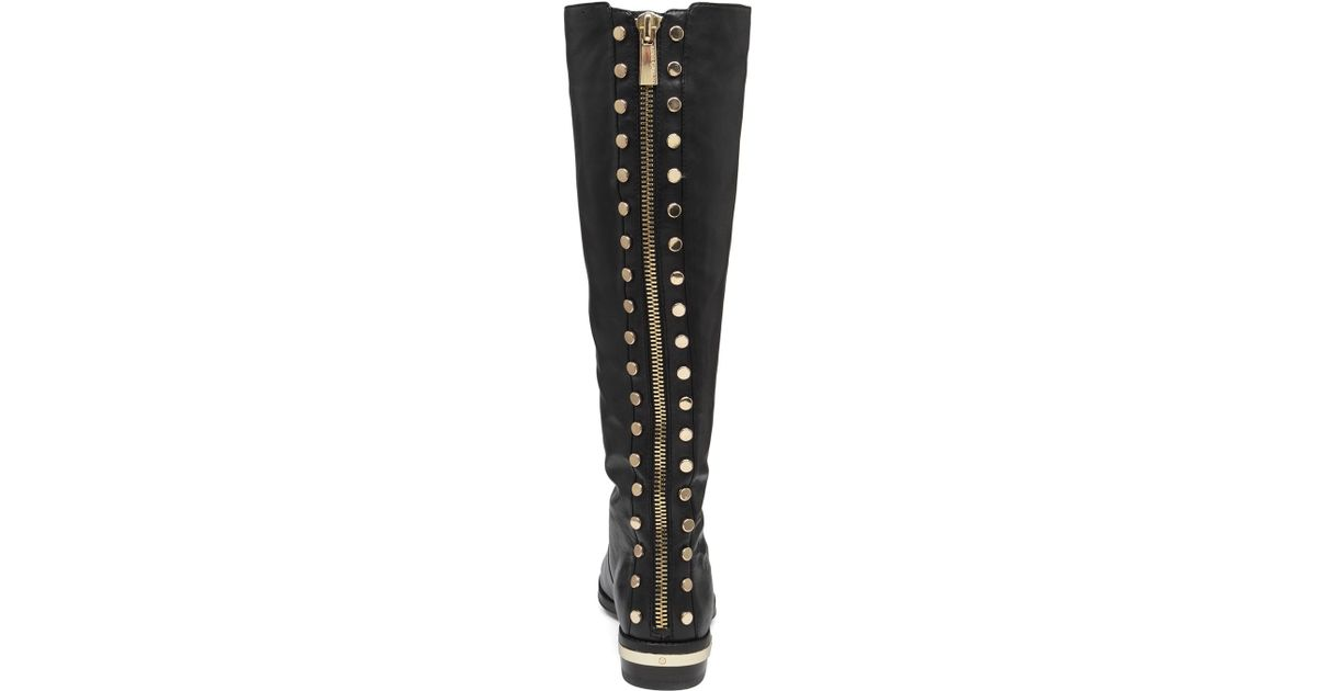 2940ddc37e4 Vince Camuto Black Parshell Studded Flat Boots