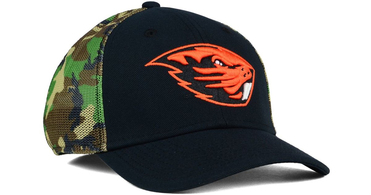 44b4f8f045a discount code for lyst nike oregon state beavers camo hook swooshflex cap  in green for men