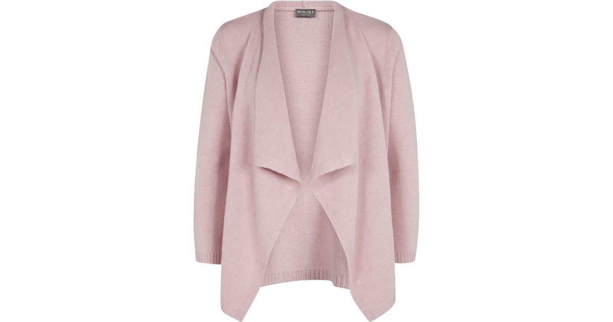 Minuet petite Pink Waterfall Cardigan in Pink | Lyst