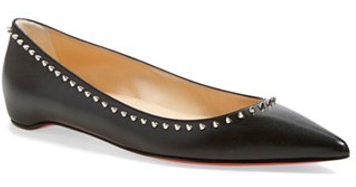 christian louboutin perforated leather flats