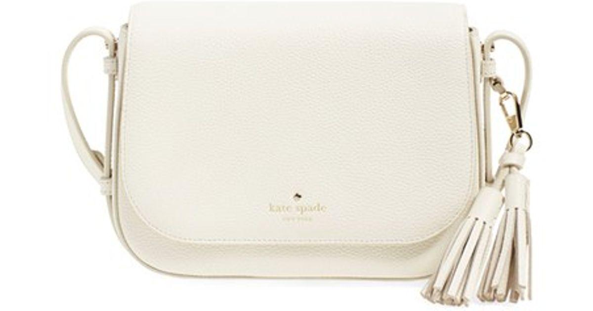8507b3031 Kate Spade 'orchard Street - Penelope' Tassel Leather Crossbody Bag in  White - Lyst