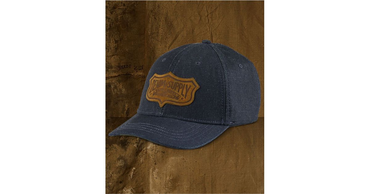 05f1f66ac71 Lyst - Denim   Supply Ralph Lauren Men s Denim Baseball Cap in Blue for Men