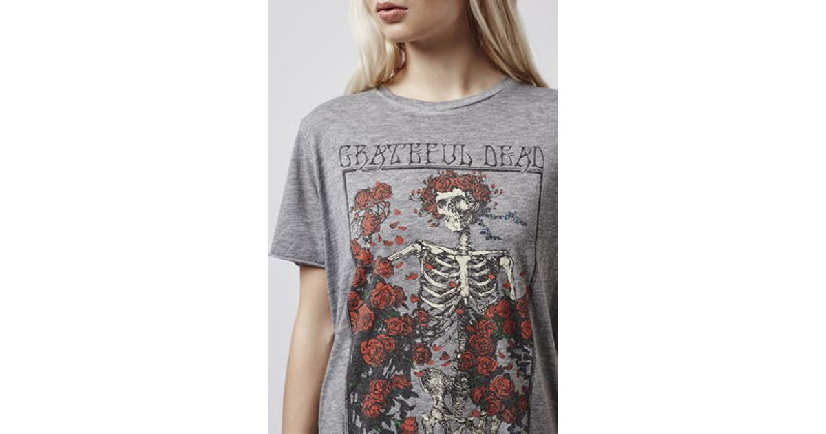 8afec4eea TOPSHOP Grateful Dead Tee By And Finally in Gray - Lyst
