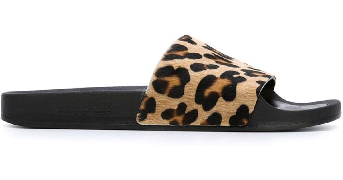 adilette leopard slides off 60% - www