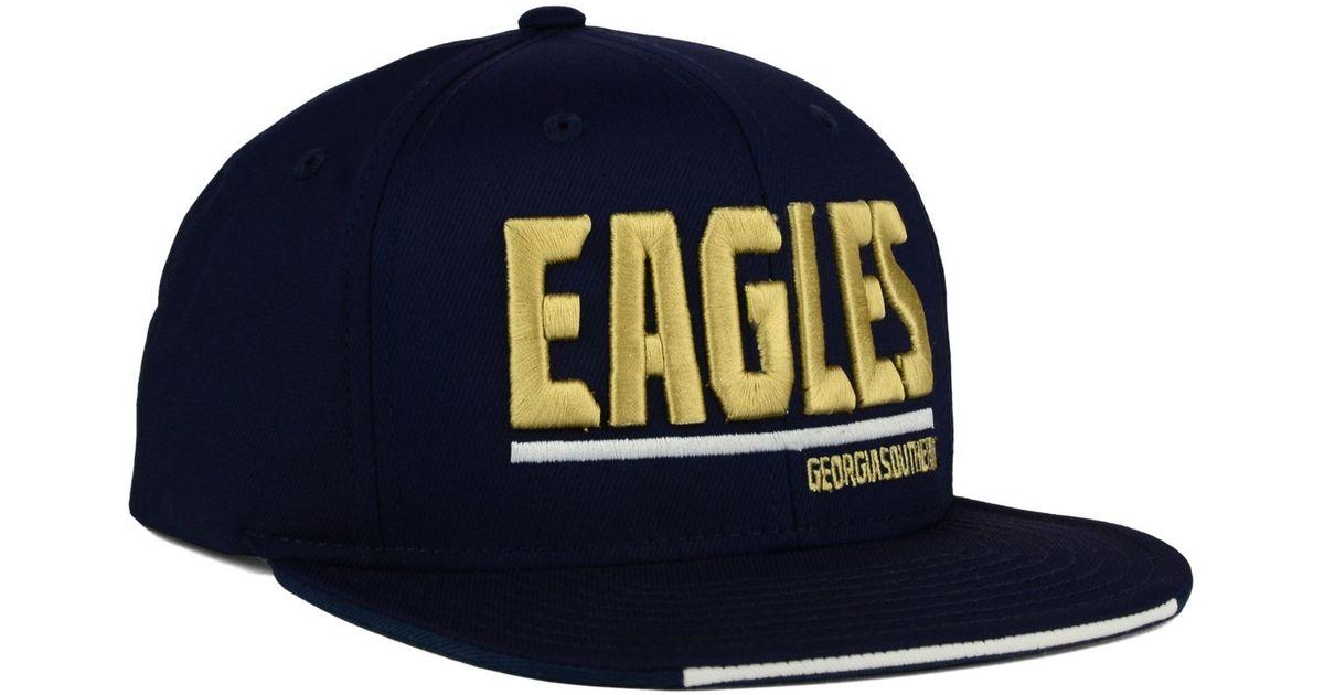93c754c7806 Lyst - adidas Originals Georgia Southern Eagles Travel Flat Brim Snapback  Cap in Blue for Men