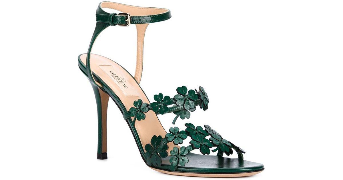 28128c63ac3 Valentino Green Four Leaf Clover Sandals