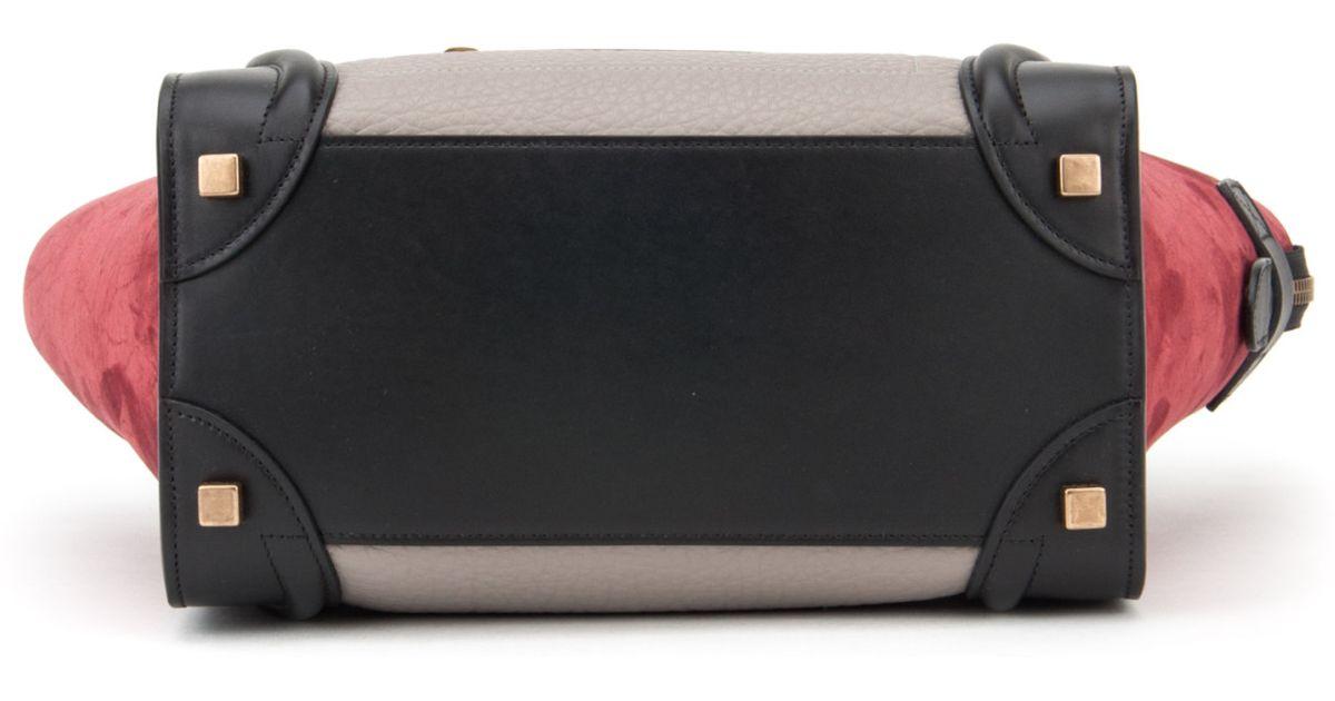 cd2f6b477b ... Crisped Calfskin Mini Tie Tote Black replica celine tote - celine tie  knot dark khaki large tote celine all soft handbag - Auth Celine Leather ...