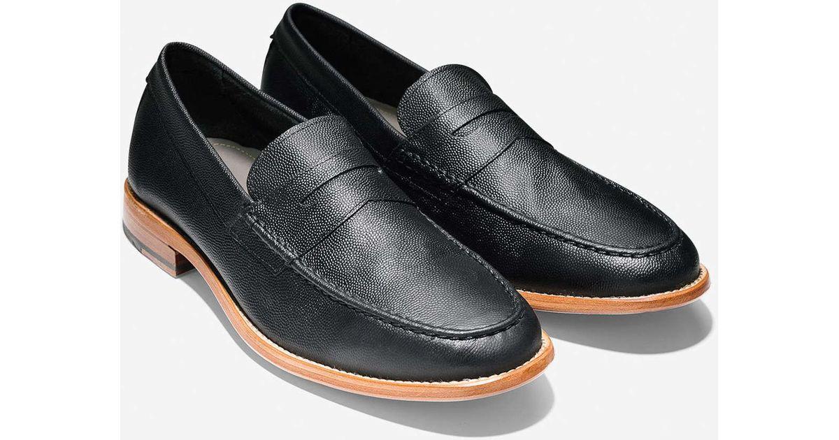 Cole haan Willet Penny Loafer In Black in Black for Men | Lyst