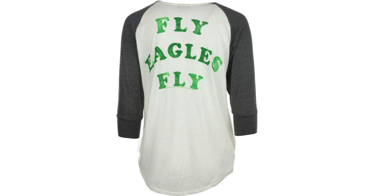 4fd4a9eb Junk Food Black Women's Philadelphia Eagles Victory Raglan T-shirt