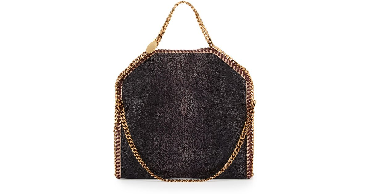 a94dd7a4d4 Lyst - Stella McCartney Falabella Shaggy Deer Foldover Tote Bag Salmone in  Black