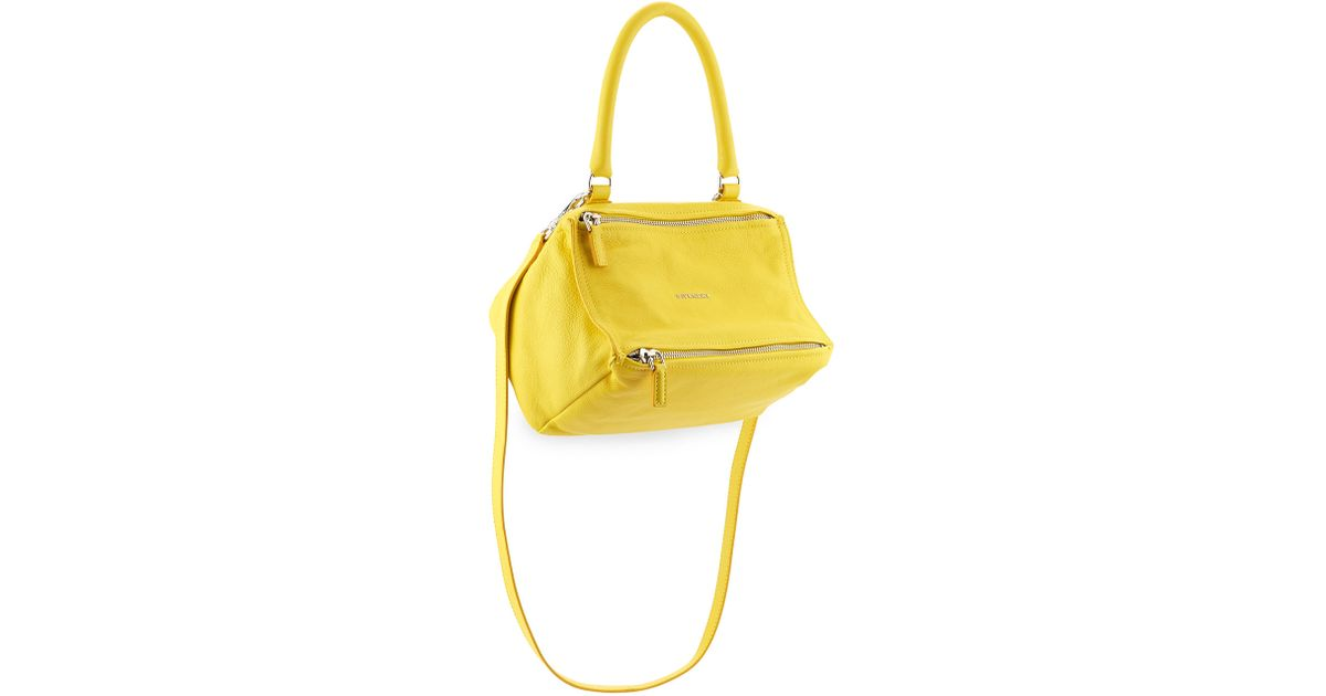 91758eb713 Lyst - Givenchy Pandora Small Leather Shoulder Bag in Yellow