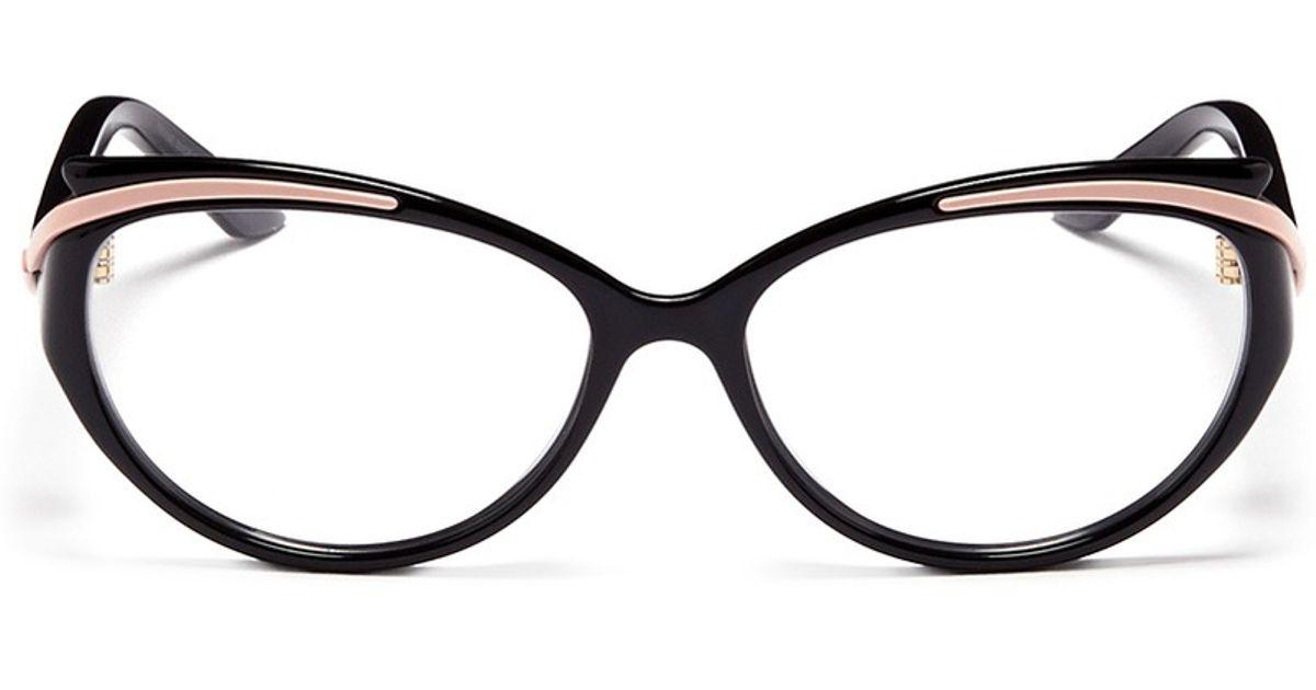 8d8d2f840df Lyst dior curve brow bar cat eye optical glasses in black jpg 1200x630 Dior  cat eye