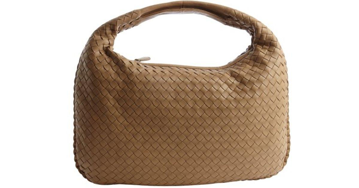 Lyst - Bottega Veneta Walnut Intrecciato Leather Hobo Bag in Brown d3525f7647f35