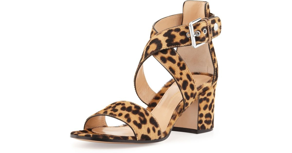 Womens Leopard-Print Calf Hair Ankle-Strap Sandals Gianvito Rossi wvCMZ