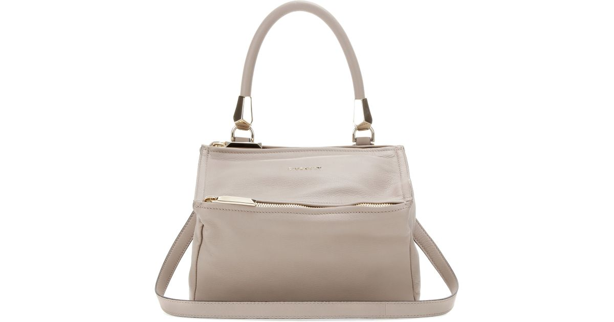 Lyst - Givenchy Pandora Small Leather Shoulder Bag in Gray 698643f0e3d87